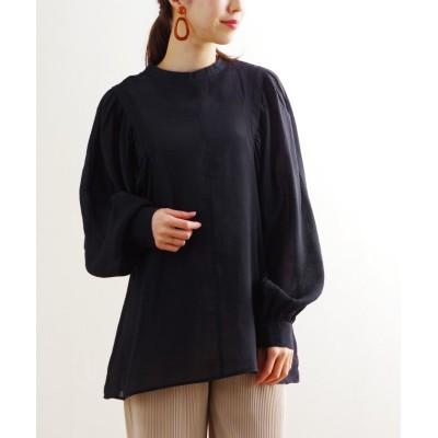 【フィズ】 シアー素材ボリューム袖デザインブラウス dt SS レディース ブラック M Fizz