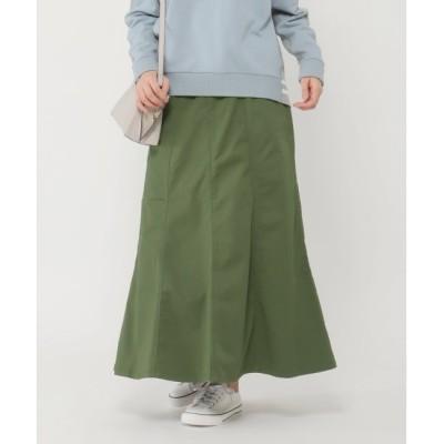 【エルビーシーウィズライフ/Lbc with Life】 ストレッチツイル裾ひらりスカート