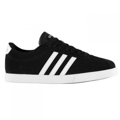 アディダス adidas レディース スニーカー シューズ・靴 Court Set Suede Trainers Black/White