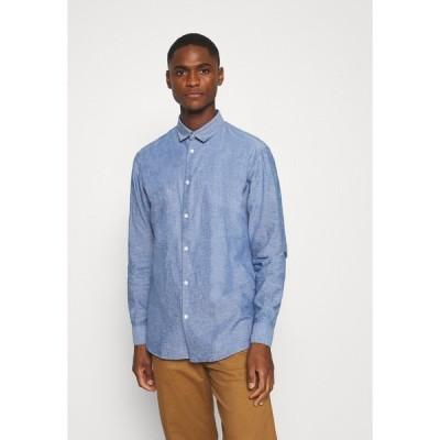 セレクテッドオム シャツ メンズ トップス SLHSLIMLINEN - Shirt - medium blue denim