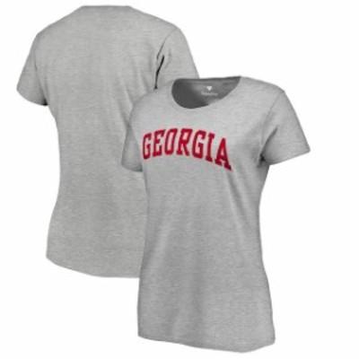 Fanatics Branded ファナティクス ブランド スポーツ用品  Fanatics Branded Georgia Bulldogs Womens Gray Basic Arch T-Shirt