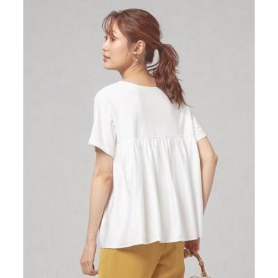 tシャツ Tシャツ <closet story(クローゼットストーリー)> バックサテン ギャザー カットソー