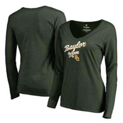Fanatics Branded ファナティクス ブランド スポーツ用品  Fanatics Branded Baylor Bears Womens Green Team Mom Long Sleeve T-Shirt