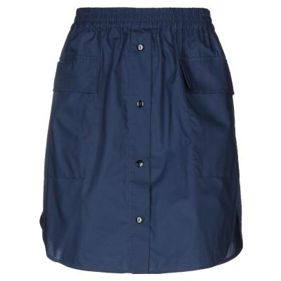 BAUM UND PFERDGARTEN ひざ丈スカート ブルー 36 オーガニックコットン 100% ひざ丈スカート