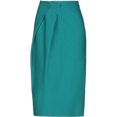 ジル サンダー JIL SANDER 7分丈スカート ディープジェード 32 コットン 92% / ポリウレタン 8% 7分丈スカート