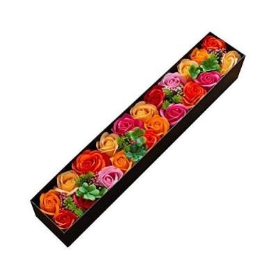 ソープフラワー ロングボックス シャボンフラワー ギフト 記念日 誕生日 プレゼント ボックス 造花 FPP-822 (オレンジミックス)