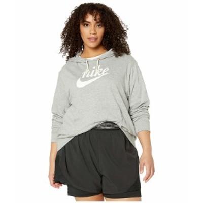 ナイキ レディース パーカー・スウェットシャツ アウター Plus Size NSW Gym Vintage Hoodie HBR Dark Grey Heather/Sail