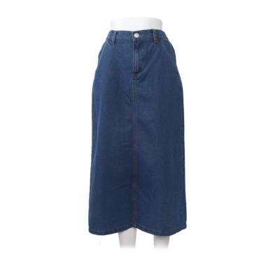 グローウィングリッチ GROWING RICH [スカート]バックスリットデニムスカート[200722] (ブルー)