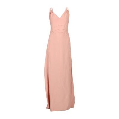 INTROPIA ロングワンピース&ドレス パステルピンク 40 レーヨン 100% ロングワンピース&ドレス