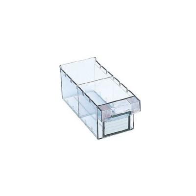トラスコ 小引き出し(仕切り板1枚付)111×264×108mm 透明 MM-1