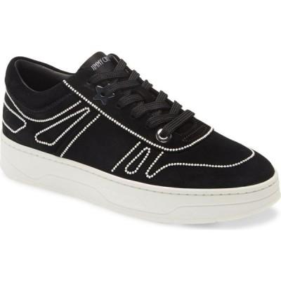ジミー チュウ JIMMY CHOO レディース スニーカー シューズ・靴 Hawaii Embellished Sneaker Black/Pearl