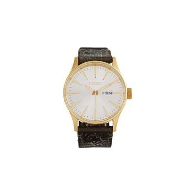 腕時計 ニクソン アメリカ A105-2496-00 Nixon Sentry Leather Gold/Olive One Size