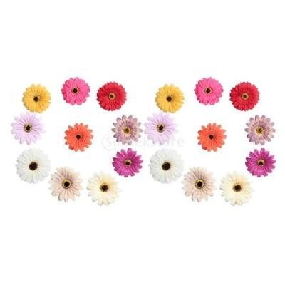 約20個 ガーベラデイジー フラワー 造花 結婚式 飾り DIY クラフト フラワーヘッド