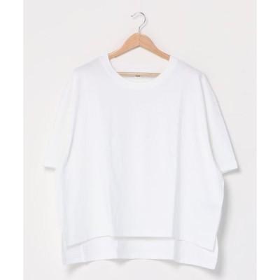 tシャツ Tシャツ 厚手ステップヘムTシャツ