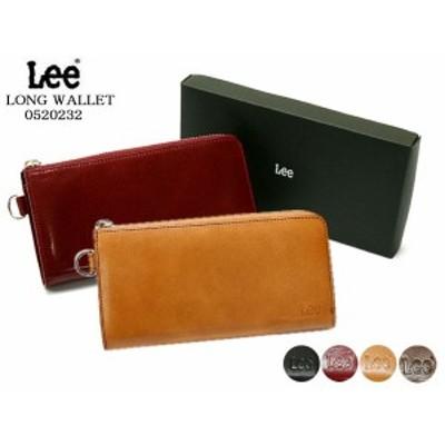 【送料無料】Lee(リー)イタリアンレザー 長財布(束入れ・ラウンドファスナー) 520232