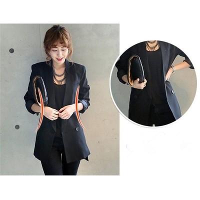 スーツ コート テーラードジャケット テーラード ブラック ライトアウター ロング フォーマル jk55 黒 OL 長袖 ジャケット  通勤 レディース オフィス 960