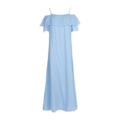 EUROPEAN CULTURE ロングワンピース&ドレス スカイブルー XS 100% コットン ロングワンピース&ドレス