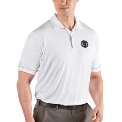 ユニセックス スポーツリーグ サッカー Philadelphia Union Antigua Salute Polo - White/Silver Tシャツ