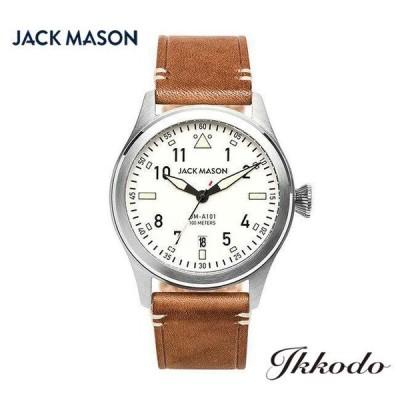 ジャックメイソン JACK MASON アヴィエーションシリーズ 100M防水 クォーツ ブラウンレザーベルト 日本国内正規品 3年保証 JM-A101-201【JMA101201】