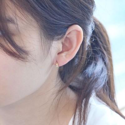 イヤーカフ 18金 k18 18k ゴールド レディース 圧調整可能 片耳用 シンプル 中折れ 日本製 刻印入り