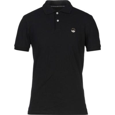 モスキーノ LOVE MOSCHINO メンズ ポロシャツ トップス polo shirt Black