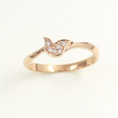 TirrLirr ティルリル ブランド リング K10 10金 ダイヤモンド ピンクゴールド ギフトにオススメ 送料無料 TRG-101-09