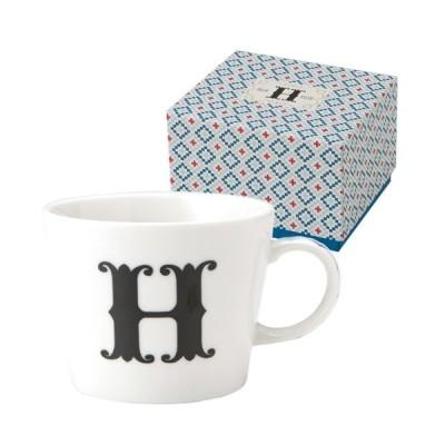 アルファベット マグカップ イニシャル ギフトパッケージ マグカップ H 東欧風ALPHABET MUG お洒落デザイン食器 陶器製 テーブルウェア