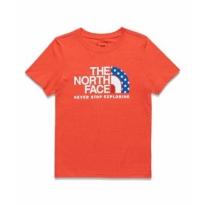 ノースフェイス レディース The North Face AMERICANA STAR HALF DOME TEE Tシャツ 半袖 FIERY RED HEATHER