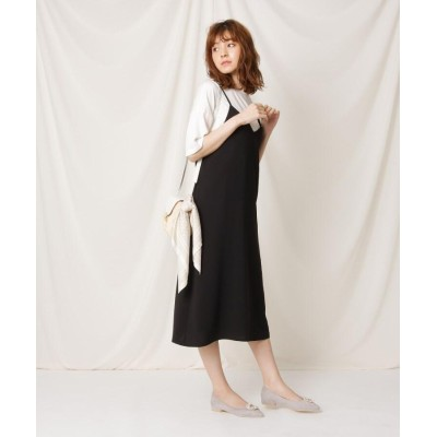 Couture Brooch(クチュールブローチ) 【洗える】ナローツイルキャミワンピース
