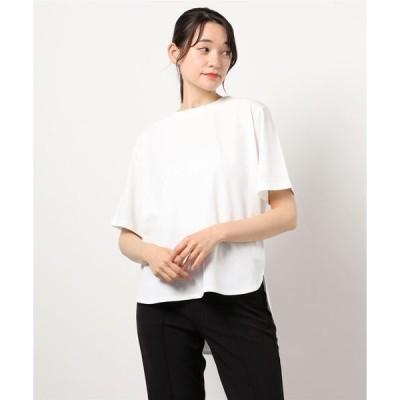 tシャツ Tシャツ 【サッパリとした心地よいコットン100%大人リラックスラウンドヘムプルオーバー】