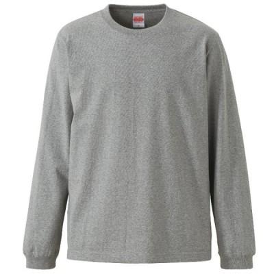 Tシャツ 長袖 メンズ オーセンティック スーパーヘビー 袖リブ 7.1oz M サイズ ミックスグレー 無地 ユナイテッドアスレ CAB