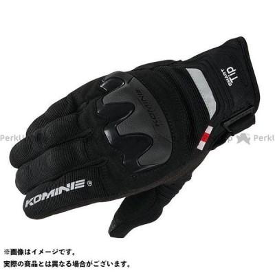 【無料雑誌付き】コミネ GK-220 プロテクトメッシュグローブ(ブラック) カラー:L KOMINE