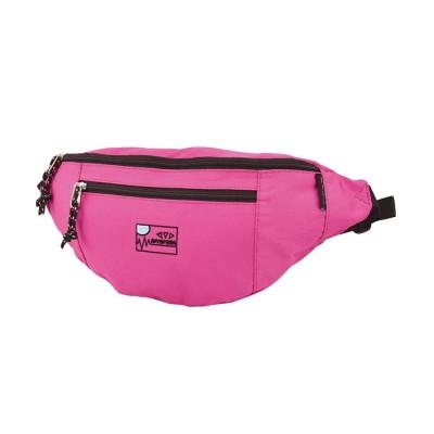 【ランナー】 ポイント刺繍 ナイロンウエストバッグ ユニセックス ピンク フリー RUNNER