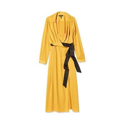 BCBGMAXAZRIA レディース 長袖 ミディドレス US サイズ: 10-12 カラー: イエロー