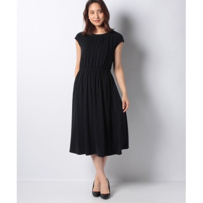 (MISS J/ミス ジェイ)【洗える】ペオススムース ドレス/レディース ネイビー