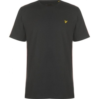 ライル アンド スコット Lyle and Scott メンズ Tシャツ トップス Side Stripe Tee True Black