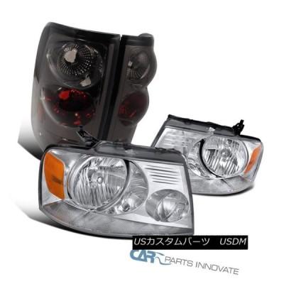 ヘッドライト 04-08 Ford F150 F-150ピックアップクリアヘッドライトヘッドランプ+スモークテールブレーキライト 04-08 Ford