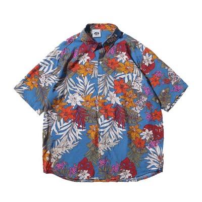 シャツ レディース 花柄 半袖シャツ 大きいサイズ プリント 薄手 ビーチ リゾート ゆったり 夏 大きいサイズ 軽量 速乾 祭り 海水浴