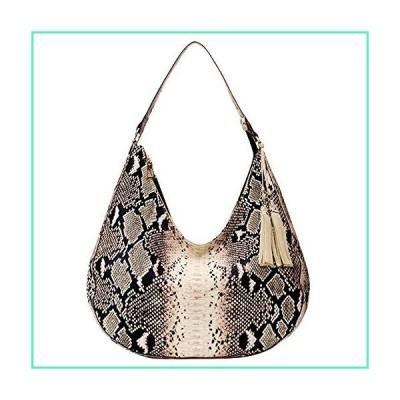 Rebecca Women Lattice Patent Leather Shoulder Bag Large Capacity Classic Quilted Tote Handbag (Snakeskin khaki)並行輸入品
