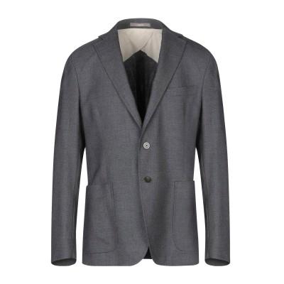 パオローニ PAOLONI テーラードジャケット 鉛色 52 バージンウール 100% テーラードジャケット