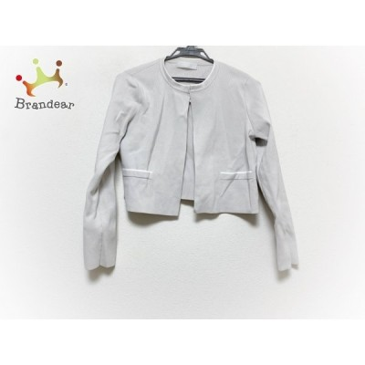 セルフォード CELFORD ジャケット サイズ36 S レディース 美品 ベージュ×白 ニット/ショート丈 新着 20201111