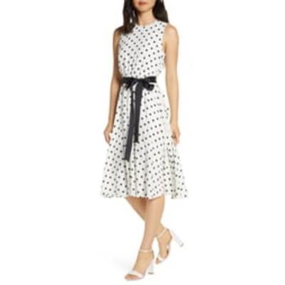 ハーパーローズ ワンピース トップス レディース Polka Dot Fit & Flare Dress Ivory