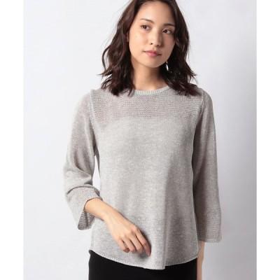 【ラピーヌ ブランシュ】【アンサンブル対応】インポート素材 ラメ入り天竺セーター