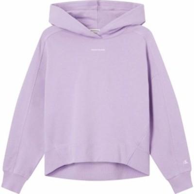 カルバンクライン Calvin Klein Jeans レディース パーカー トップス Ckj Micro Brand Hood Ld12 VK PALMA LILAC