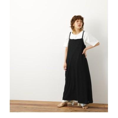 楊柳キャミワンピ&Tシャツセット