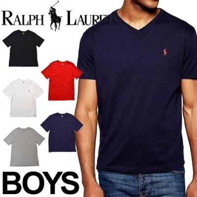 ポロ ラルフローレン ボーイズ メンズ レディース ユニセックス 半袖 Vネック Tシャツ POLO RALPH LAUREN BOYS 323674983