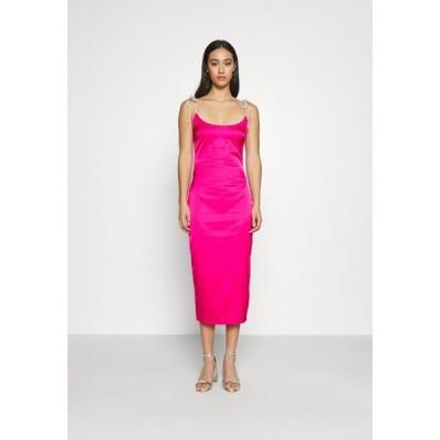 ミスガイデッド ワンピース レディース トップス DIAMANTEN LOOK TIE STRAP DRESS - Cocktail dress / Party dress - hot pink