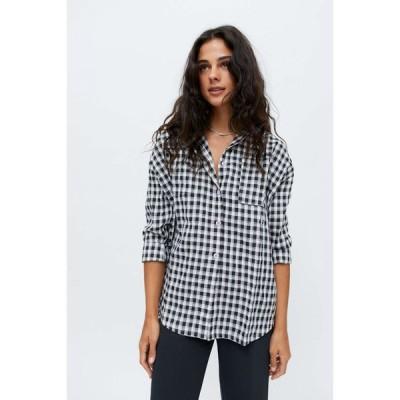 デイジーストリート Daisy Street レディース ブラウス・シャツ トップス Lucy Button-Down Shirt Black/White