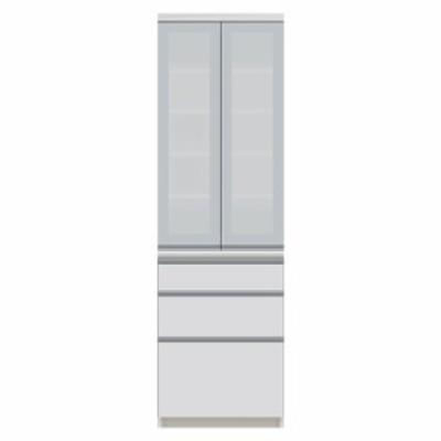 食器棚 パモウナ VI-600K 【幅60×奥行50×高さ198cm】 パールホワイト ソフトクローズ仕様 引出し