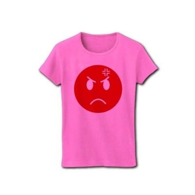 怒れよニッポン リブクルーネックTシャツ(ピンク)
